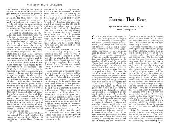 Article Preview: Exercise That Rests, May 1909 | Maclean's