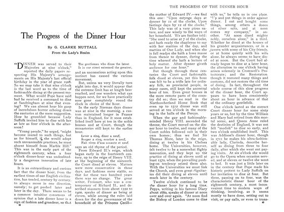Article Preview: The Progress of the Dinner Hour, May 1909 | Maclean's