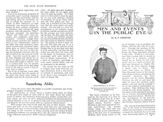 Article Preview: MEN AND EVENTS IN THE PUBLIC EYE, May 1909 | Maclean's