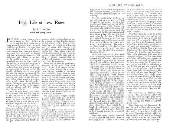 Article Preview: High Life at Low Rates, May 1909 | Maclean's
