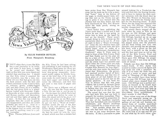 Article Preview: The News Value of Old Billings, May 1909 | Maclean's