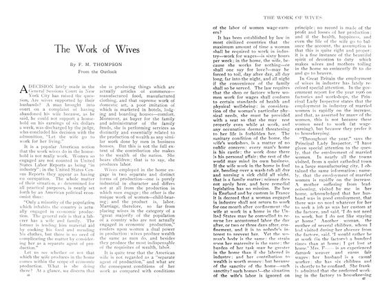 Article Preview: The Work of Wives, June 1909 | Maclean's