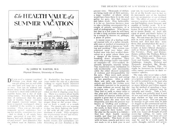 Article Preview: The HEALTH VALUE of a SUMMER VACATION, June 1909 | Maclean's