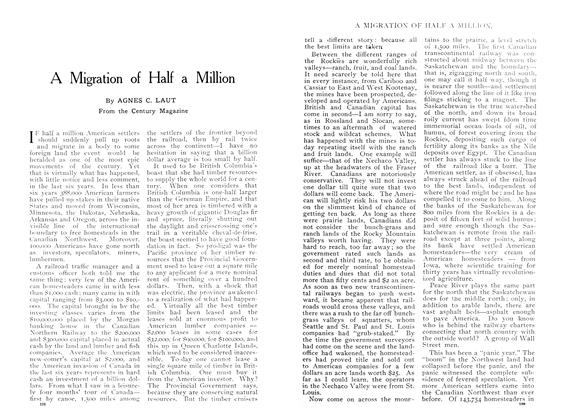 Article Preview: A Migration of Half a Million, June 1909 | Maclean's