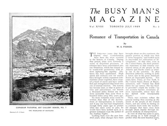 Article Preview: Romance of Transportation in Canada, July 1909 | Maclean's