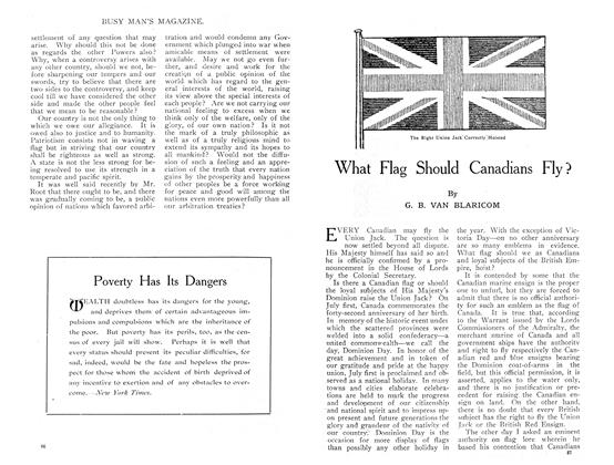 Article Preview: What Flag Should Canadians Fly?, July 1909 | Maclean's