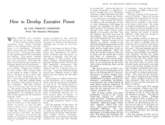 Article Preview: How to Develop Executive Power, July 1909 | Maclean's
