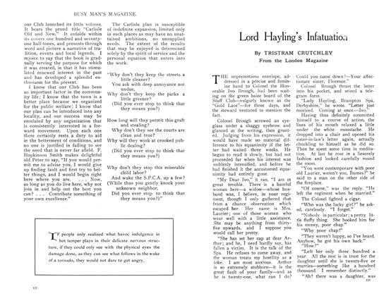 Article Preview: Lord Hayling's Infatuation, July 1909 | Maclean's