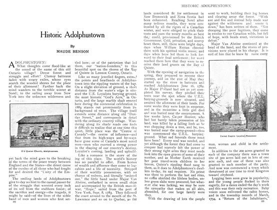 Article Preview: Historic Adolphustown, July 1909 | Maclean's