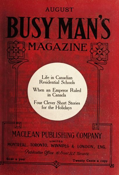 Issue: - August 1909 | Maclean's