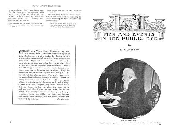 Article Preview: MEN AND EVENTS IN THE PUBLIC EYE, August 1909 | Maclean's