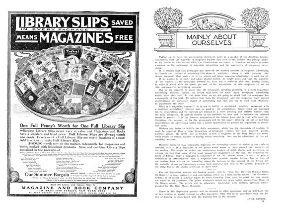Article Preview: MAINLY ABOUT OURSELVES, August 1909 | Maclean's