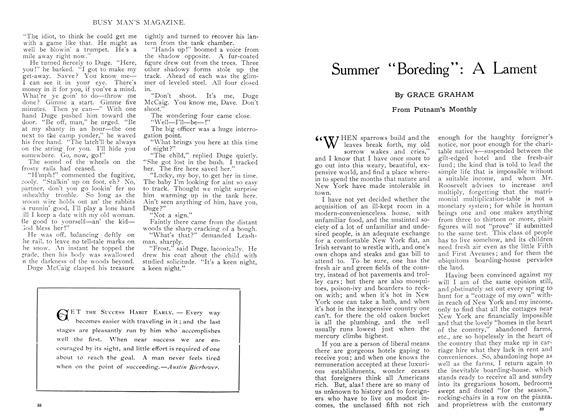 "Article Preview: Summer ""Boreding"": A Lament, August 1909 