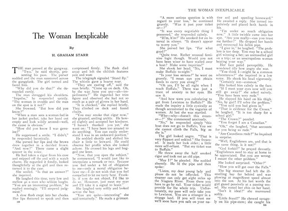 Article Preview: The Woman Inexplicable, August 1909 | Maclean's