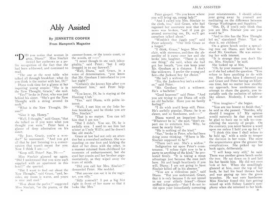 Article Preview: Ably Assisted, September 1909 | Maclean's