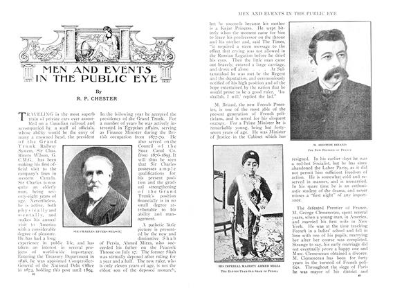 Article Preview: MEN AND EVENTS IN THE PUBLIC EYE, September 1909 | Maclean's