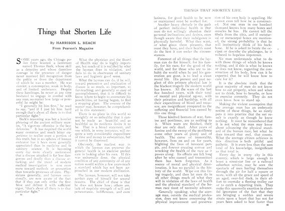 Article Preview: Things that Shorten Life, September 1909 | Maclean's