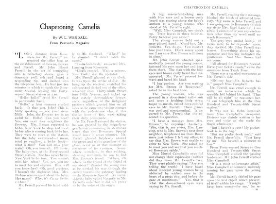 Article Preview: Chaperoning Camelia, September 1909 | Maclean's