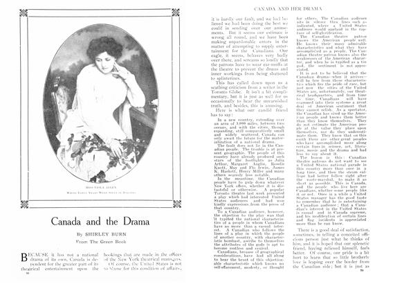 Article Preview: Canada and the Drama, September 1909 | Maclean's