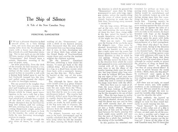 Article Preview: The Ship of Silence, October 1909 | Maclean's
