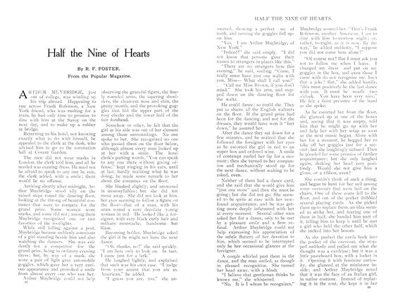 Article Preview: Half the Nine of Hearts, October 1909 | Maclean's