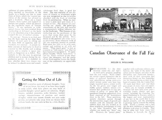 Article Preview: Canadian Observance of the Fall Fair, October 1909 | Maclean's