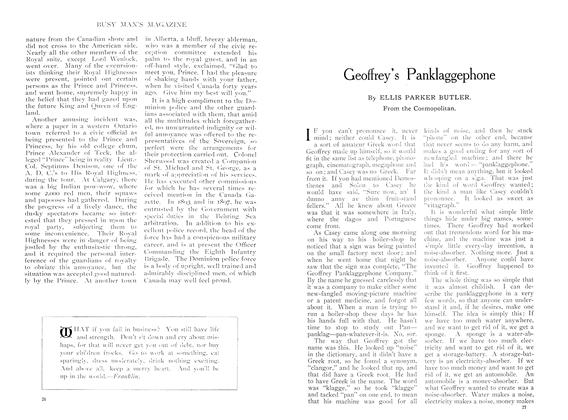 Article Preview: Geoffrey's Panklaggephone, October 1909 | Maclean's