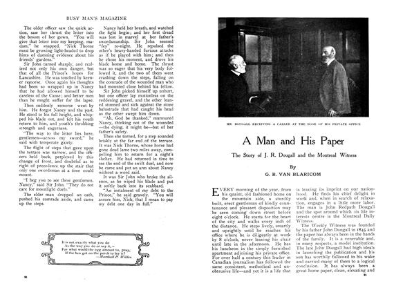 Article Preview: A Man and His Paper, November 1909 | Maclean's
