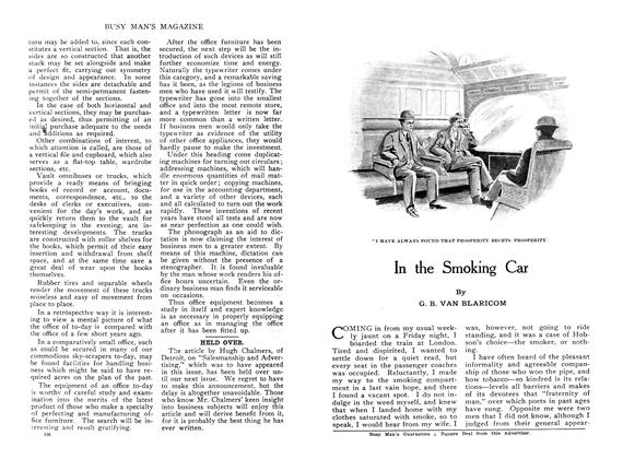 Article Preview: In the Smoking Car, November 1909 | Maclean's