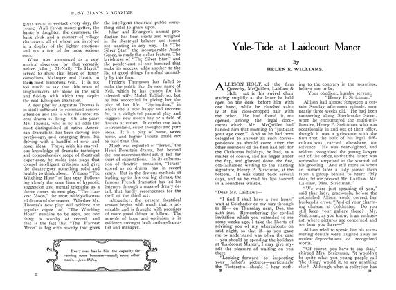 Article Preview: Yule-Tide at Laidcourt Manor, December 1909 | Maclean's