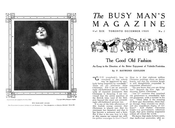 Article Preview: In the Field of Drama, December 1909 | Maclean's