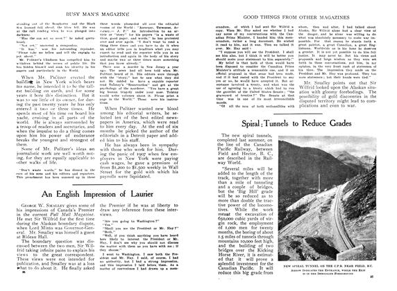 Article Preview: Spiral Tunnels to Reduce Grades, December 1909 | Maclean's