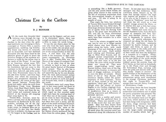 Article Preview: Christmas Eve in the Cariboo, January 1910 | Maclean's