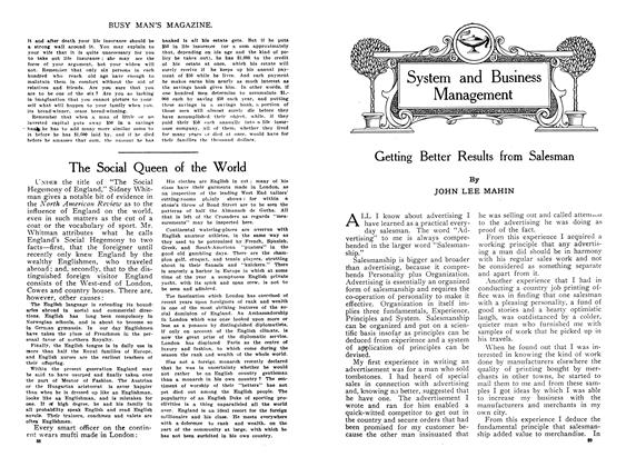 Article Preview: Getting Better Results from Salesman, January 1910 | Maclean's