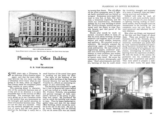 Article Preview: Planning an Office Building, January 1910 | Maclean's