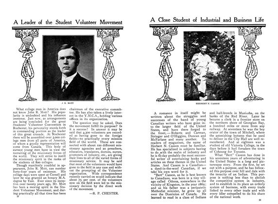 Article Preview: A Leader of the Student Volunteer Movement, January 1910 | Maclean's