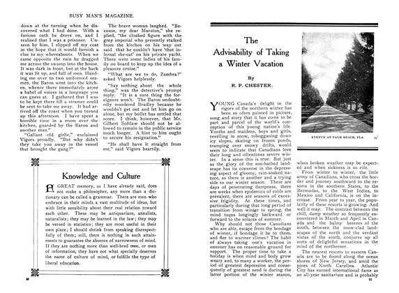 Article Preview: The Advisability of Taking a Winter Vacation, February 1910 | Maclean's