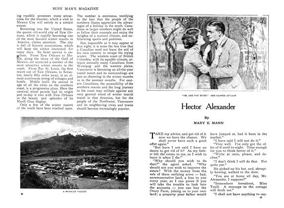 Article Preview: Hector Alexander, February 1910 | Maclean's