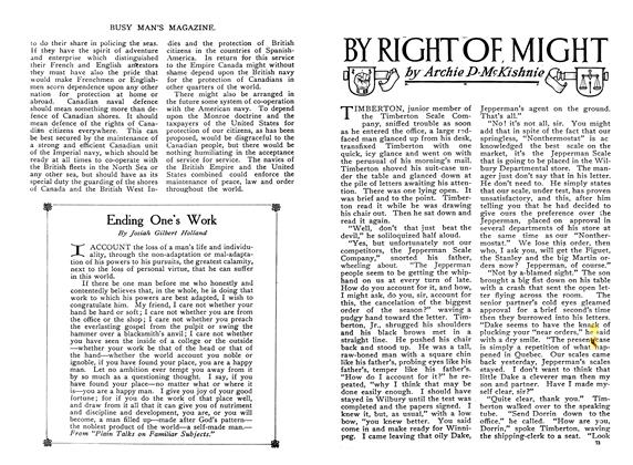 Article Preview: BY RIGHT OF MIGHT, February 1910 | Maclean's