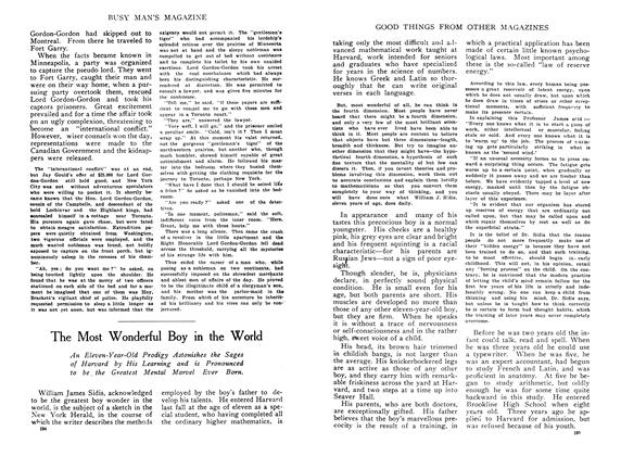 Article Preview: The Most Wonderful Boy in the World, February 1910 | Maclean's