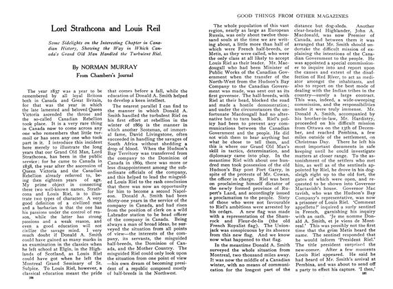 Article Preview: Lord Strathcona and Louis Reil, February 1910 | Maclean's