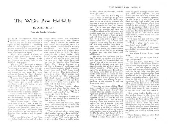 Article Preview: The White Paw Hold-Up, March 1910 | Maclean's