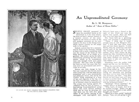 Article Preview: An Unpremeditated Ceremony, March 1910 | Maclean's