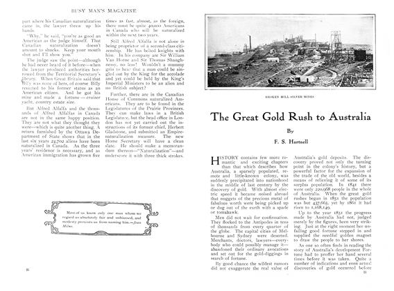 Article Preview: The Great Gold Rush to Australia, March 1910 | Maclean's