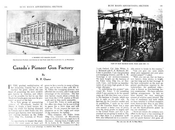 Article Preview: Canada's Pioneer Gun Factory, April 1910 | Maclean's