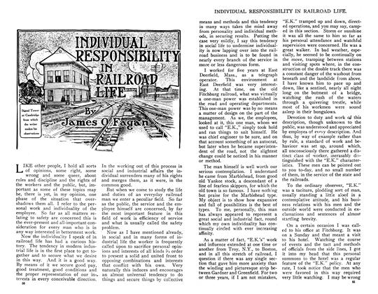 Article Preview: INDIVIDUAL RESPONSIBILITY IN RAILROAD LIFE, May 1910 | Maclean's