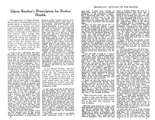 Article Preview: Upton Sinclair's Prescription for Perfect Health., May 1910 | Maclean's