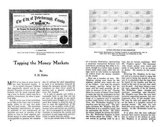 Article Preview: Tapping tbe Money Markets, June 1910 | Maclean's