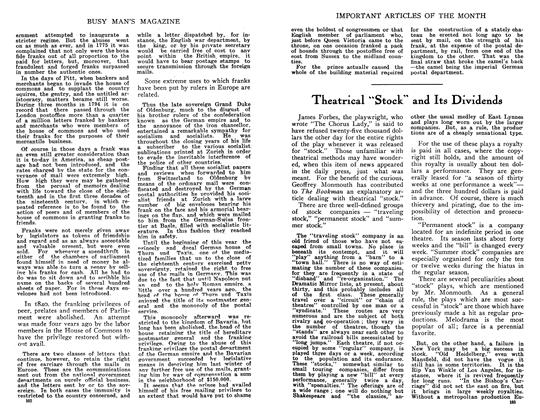 "Article Preview: Theatrical ""Stock and Its Dividends, June 1910 