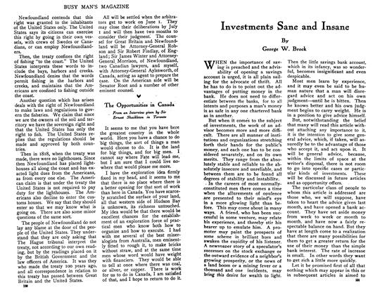 Article Preview: Investments Sane and Insane, June 1910 | Maclean's